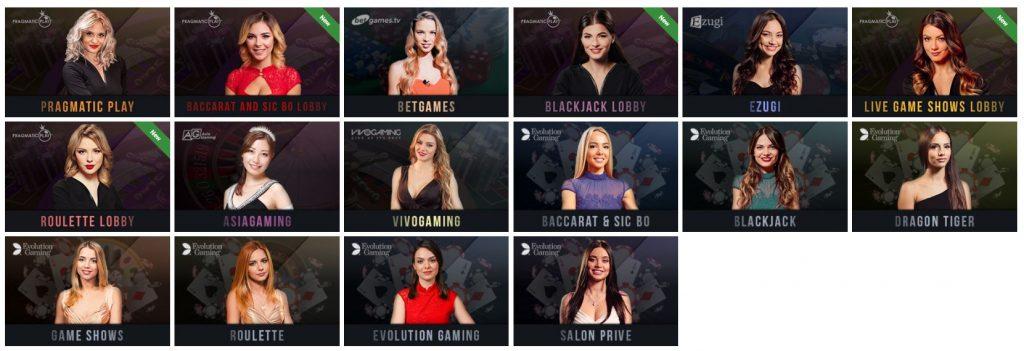 Vegaz Casino live casino games