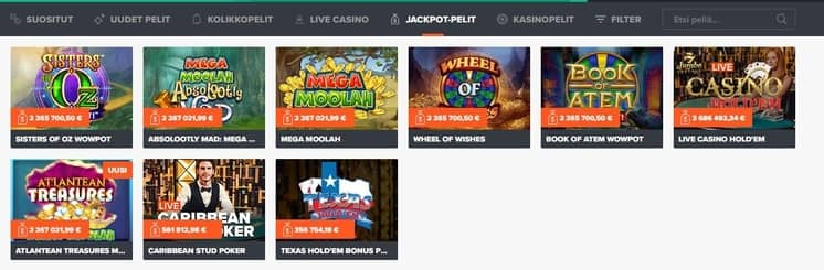 Ninja Casino Jackpot Pelit